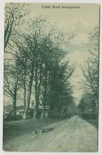 Ross & Cromarty postcard - Castle Road, Invergordon - RP - P/U 1914