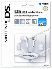 Official Hori Earphones Inner Earbud For Nintendo DS Lite DSi White (NEW)