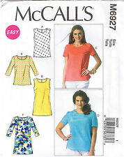 Easy Womens Pullover Tops Tunics McCalls Sewing Pattern Plus Size 18 20 22 24