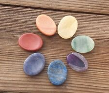 NATURAL 7 CHAKRA GEMSTONE WORRY STONE SET