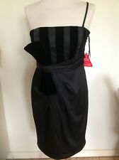 NEW Black Dress,Evening,Wedding,Party,Size 10,Strapless Or With Straps