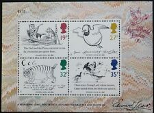 Death centenary f Edward Lear stamp sheet, GB, 1988, SG ref: 1405-1408, MNH