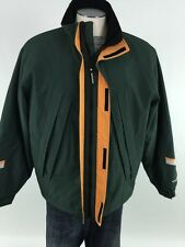 Woolrich Lightweight Full Zip Jacket L Large Green Orange Fully Lined Mens Coat