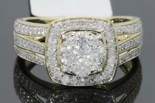 10K YELLOW GOLD 1.10 CARAT REAL DIAMOND WOMEN BRIDAL WEDDING ENGAGEMENT RING