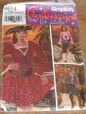 PATRON SIMPLICITY  COSTUME 3 VERSIONS PIRATE DES CARAIBES   TAILLE 34/36/38/40