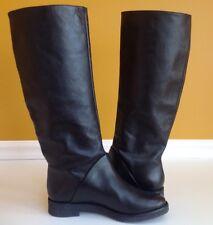 Diane von Furstenberg Women's Ainsley Tall Leather Riding Boots Black 7