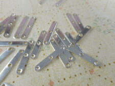 100 Silver Plated 3 Strand Spacer Bars Findings 1045
