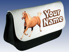 PALOMINO HORSE PERSONALISED PENCIL CASE / MAKE UP BAG / DS BAG  *NAMED GIFT*