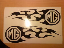 2x mg tribal flames logo vinyl car sticker side graphics decals fun racing stock