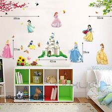 Disney Princess Girls Castle Wall Stickers Vinyl Decal Removable Kids Art Decor
