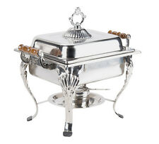 4QT Rectangular Chafing Dish Chafer Catering Banquet Buffet Food Tray Warmer