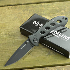 Boker Magnum Shadow 440 Stainless Black Aluminum Handle Knife 01MB428