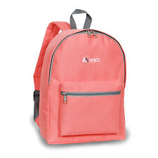 Classic Basic Small Student Backpack Bag Black Red Blue White Camo Pink Khaki