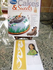 EAGLEMOSS DISNEY CAKES & SWEETS  MUSHI STENCIL & MULAN STICK   No 48   NEW