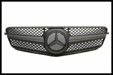 MATTE BLACK FRONT GRILLE GRILL FOR BENZ W204 C-CLASS SL TYPE C250 C300 C350