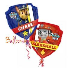 """Paw Patrol 26"""" Foil Balloon Helium Party Birthday Decoration Chase Marshall"""