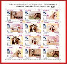 ESPAÑA Nº 3723/3728A **  2000 MINIPLIEGO CABALLOS CARTUJANOS 2000 NUEVOS