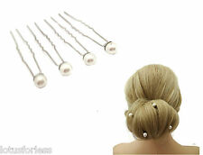 4 x Ivory Faux Pearl Hair Pin Hair Jewel Bridal Prom for up dos