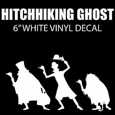 "Haunted Mansion Hitchhiking Ghost 6"" White Vinyl Decal Sticker - BOGO"