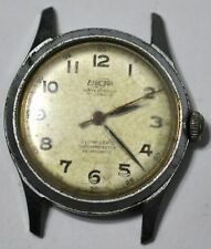VINTAGE MILITARY ENICAR AR1010 17 JEWELS WRIST WATCH RUNS FOR PARTS/REPAIR #W328
