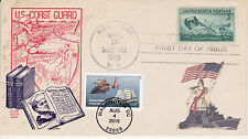 JVC CACHETS FIRST DAY COVER 1945/2015 DUAL FDC ONE-OF-A-KIND ADD-ON COAST GUARD3