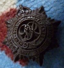 Royal Army Service Corps Economy Plastic Cap Badge maker A S WALSAIL