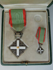 Italy Military Medal Knight Order of Merit Italian Republic with mini in BOX