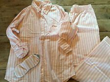 Pink Silver Stripe~X-SMALL/REGULAR~Victoria's Secret DREAMER FLANNEL PAJAMA SET!