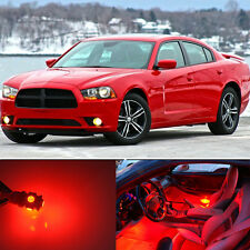 19Pcs Premium Red LED Lights Interior Package Upgrade Fit Dodge Charger