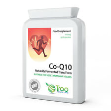 Co Enzyme Q10 CoQ10 100mg 90 Capsules - Trans Form - UK Made GMP Quality Assured