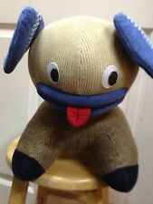 "Plaid WOOL TWEED DOG 12"" RARE Collectible Plush TONGUE OUT Pottery Barn Kids PBK"