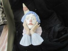 LLADRO 5129 SAD JESTER CLOWN HEAD PORCELAIN BUST LARGE RETIRED