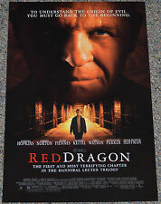 RED DRAGON 2002 ORIGINAL 11x17 MOVIE POSTER! ANTHONY HOPKINS as HANNIBAL LECTER!