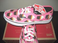 Vans Authentic Womens Late Night Hot Pink Cupcakes Canvas shoes size 8 NWT