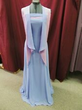 NWT B2 Sky Blue & Orchid Size 6 Long Evening Formal Bridesmaid Prom Dress M-1