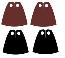 4 x  Capes Brown & Black for  Star Wars Harry Potter Lego Minifigs NEW
