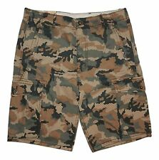 Levi's Mens 6-Pocket Relaxed Fit Cargo Shorts Waist 32W Green & Tan Camo NEW $50