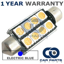 1X BLUE CANBUS NUMBER PLATE INTERIOR 6 SUPER BRIGHT SMD LED BULBS 42MM 14BX1