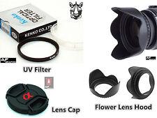 FK19 Lens Hood + Lens Cap + UV Filter for Sony DSC HX300 DSC HX400V DSC H400