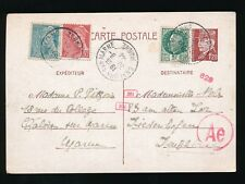 FRANCE 1944 STATIONERY to GERMANY...JUNE...BOXED POSTMAN MARKS