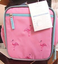 Pottery Barn Kids Fairfax PINK Pretty FLAMINGO Girls Lunch Bag NEW