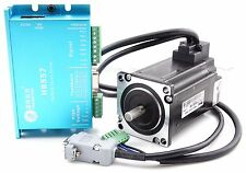 CNC Leadshine Closed Loop Hybrid Servo Drive Kit HBS57 Driver + Motor + encoder