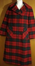 Vintage PENDLETON Wool Coat Christmas Plaid Long Women's Size 6-8