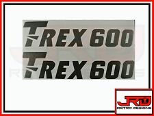 2 x Trex 600 Logo Vinyl Stickers in Black
