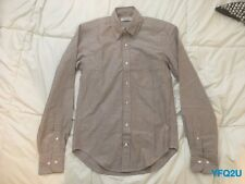 New GUSTIN #129 XS SLIM FIT JAPAN WINE OXFORD COLLAR SPORT SHIRT MADE IN USA S16