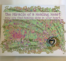 MIRACLE OF A HEALING HEART GREETING CARDS WITH POCKET CHARMS ... INSPIRATIONAL