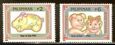 Mint Philippines1995 Year of the Pig stamps Set (MNH)