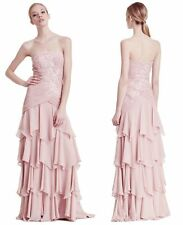 NWT Sue Wong blush pink  Soutache Embroidery Dress gown size 6 - $565