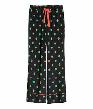 NWT KENZO x H&M LADIES PATTERNED SILK PANTS Size US 6 / UK 10/ IT 42
