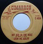 LEON Mc AULIFF ~ CIMARRON private COUNTRY rocker 45 ~ HEAR IT
